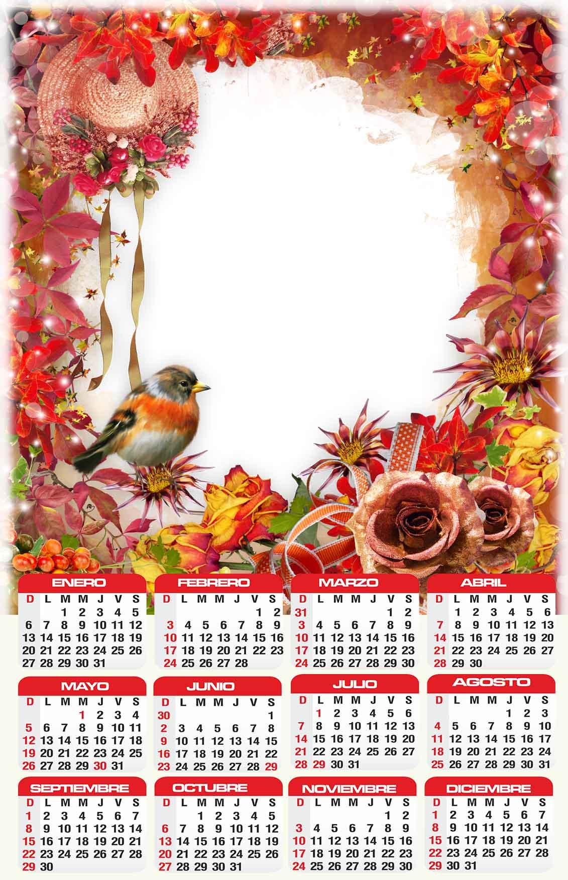 calendario 2019 editables para imprimir gratis psd