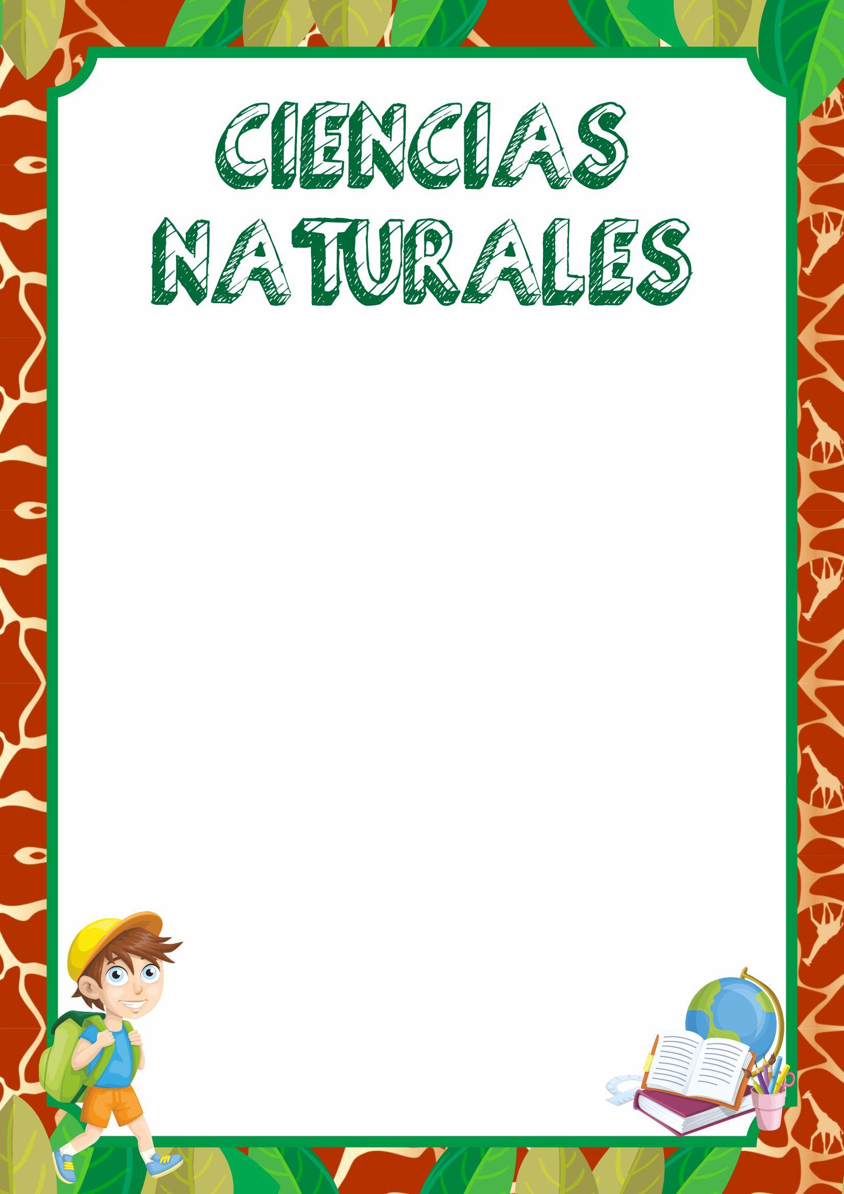 caratulas  de ciencias naturales
