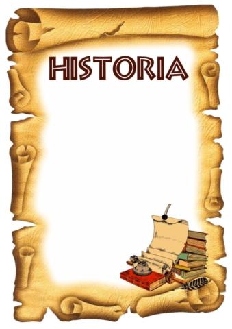 CARATULAS DE HISTORIA