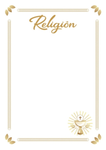 caratulas de religion