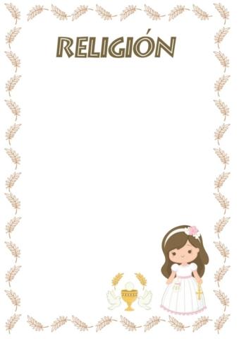 caratulas de religión