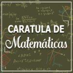 Caratula para cuadernos matematicas
