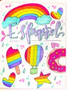 ▷ Caratulas de español【Faciles A mano 】