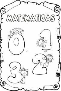 Portadas De Matematicas Para Colorear Faciles