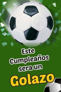 Tarjetas de cumpleaños de futbol