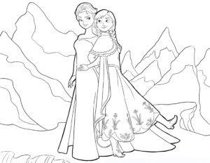 Dibujos Para Colorear De Frozen Bonito Para Imprimir