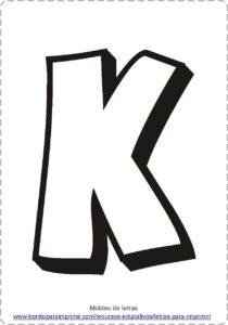 moldes de letras K