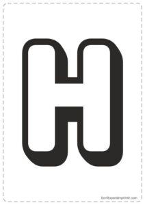 Letras H para imprimir