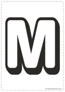 Letras M para imprimir