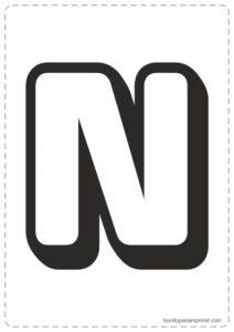 Letras N para imprimir