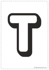 Letras T para imprimir