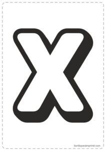 Letras X para imprimir