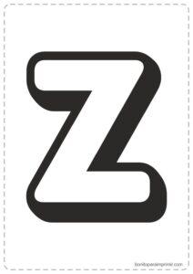 Letras Z para imprimir
