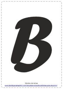 moldes de letras B