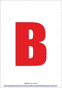 Letras B para imprimir