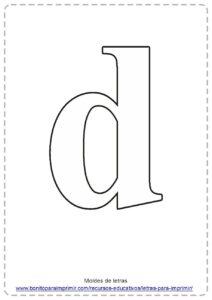 moldes de letras D