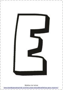 moldes de letras E
