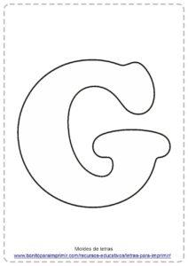 moldes de letras G
