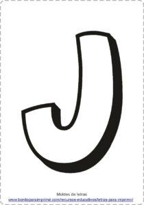 moldes de letras J