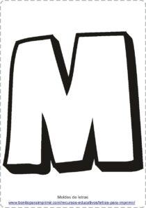 moldes de letras M