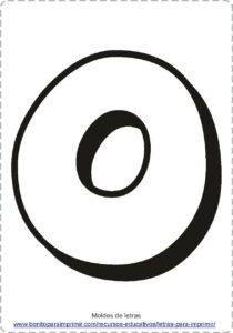 moldes de letras O