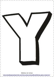 moldes de letras Y