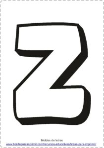 moldes de letras Z