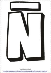 moldes de letras Ñ