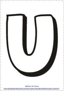moldes de letras U