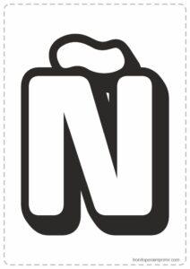 Letras Ñ para imprimir