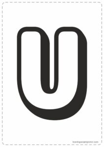 Letras U para imprimir
