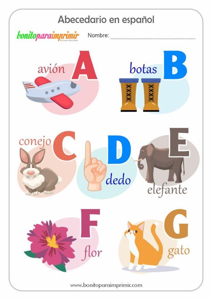 el abecedario para ninos